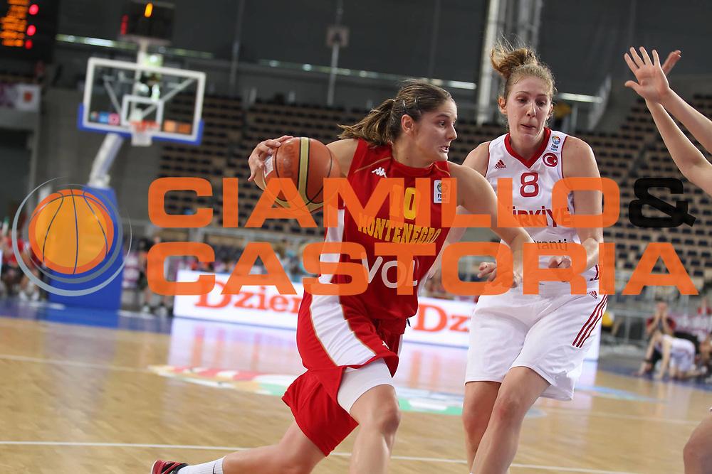 DESCRIZIONE : Lodz Poland Polonia Eurobasket Women 2011 Quarter Final Round Montenegro Turchia Montenegro Turkey<br /> GIOCATORE : Jelena Dubljevic<br /> SQUADRA : Montenegro<br /> EVENTO : Eurobasket Women 2011 Campionati Europei Donne 2011<br /> GARA : Montenegro Turchia Montenegro Turkey<br /> DATA : 30/06/2011<br /> CATEGORIA : <br /> SPORT : Pallacanestro <br /> AUTORE : Agenzia Ciamillo-Castoria/E.Castoria<br /> Galleria : Eurobasket Women 2011<br /> Fotonotizia : Lodz Poland Polonia Eurobasket Women 2011 Quarter Final Round Montenegro Turchia Montenegro Turkey<br /> Predefinita :