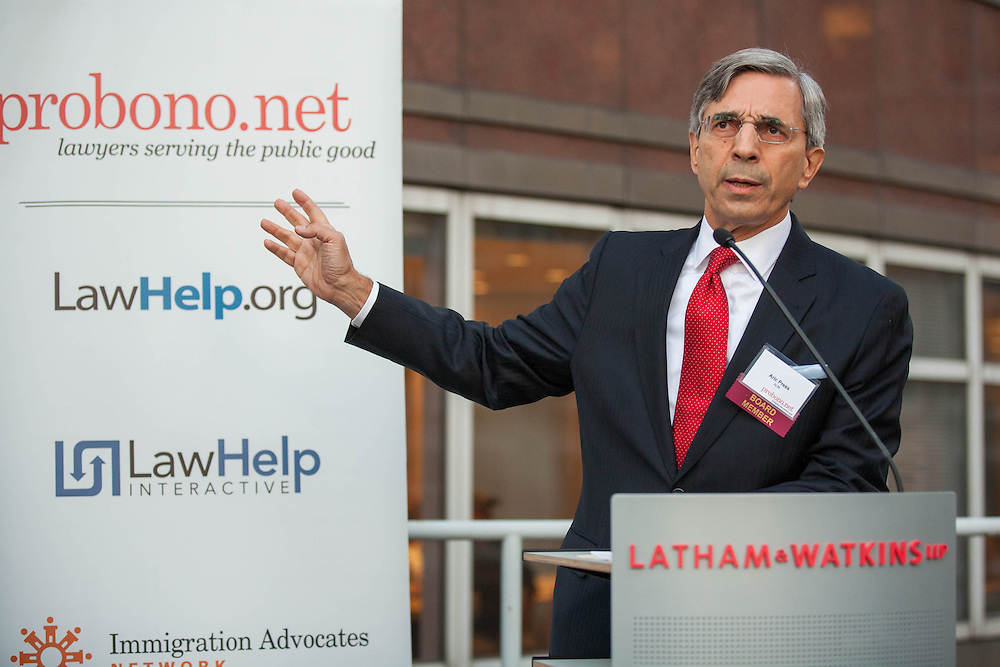 September 23, 2014. Pro Bono Net hosts: <br /> CAPTION: ALM&rsquo;s Senior Vice President &amp; Editor in Chief, Aric Press, is a member of the board of directors for our nonprofit organization, Pro Bono Net.  Pro Bono Net is a national organization helping increase access to justice for the millions of individuals who cannot afford an attorney by leveraging technology to help improve the efficiency  of legal services organizations and empower individuals to help themselves.   We are hosting an event at the law firm of Latham &amp; Watkins on Sept. 23rd from 6-8pm to honor to celebrate our 15th anniversary and honor our founding board chair, Michael A. Cooper.  Chief Judge Lippman will also be giving special remarks.