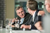 """19 NOV 2018, BERLIN/GERMANY:<br /> Peter Huebner, Praesident des Hauptverbandes der Deutschen Bauindustrie, F.A.Z. Konferenz """"Mobilitaet in Deutschland - Zeit fuer neues Denken und Handeln"""", F.A.Z. Atrium<br /> IMAGE: 20181119-01-174<br /> KEYWORDS: F.A.Z."""