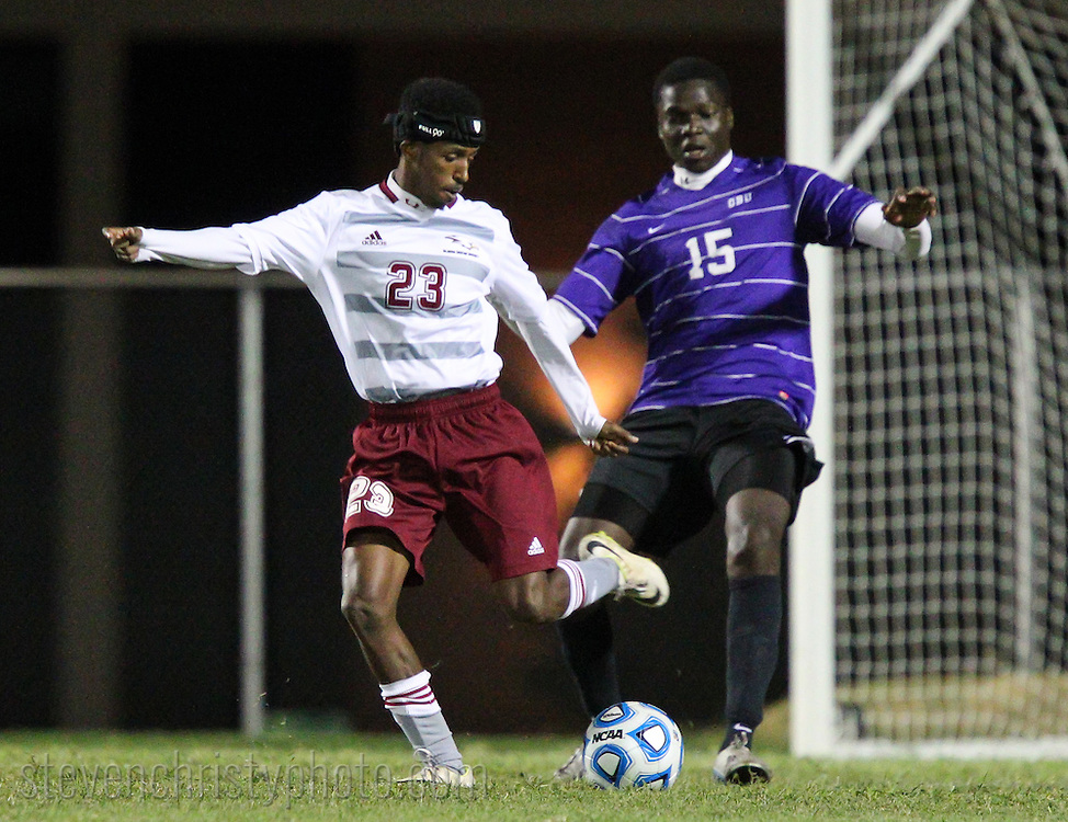 September 12, 2014: The Ouachita Baptist University Tigers play against the Oklahoma Christian University Eagles on the campus of Oklahoma Christian University.