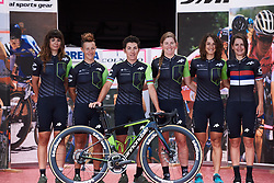 Cylance Pro Cycling are presented to the crowds at Giro Rosa 2018 - Team Presentation in Verbania, Italy on July 5, 2018. Photo by Sean Robinson/velofocus.com