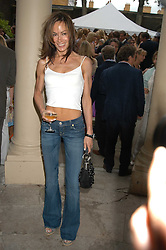 TARA PALMER-TOMKINSON at the Tatler Summer Party in association with Moschino at Home House, 20 Portman Square, London W1 on 29th June 2005.<br />