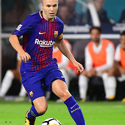 Andres Iniesta of Barcelona during the International Champions Cup match between Barcelona and Real Madrid at Hard Rock Stadium on July 29, 2017 in Miami Gardens, Florida. (Photo by Dave Winter/Icon Sport)
