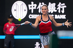 October 3, 2018 - Timea Babos of Hungary in action during her second-round match at the 2018 China Open WTA Premier Mandatory tennis tournament (Credit Image: © AFP7 via ZUMA Wire)