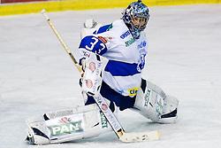Robert Kristan (KHL Medvescak Zagreb, #33) during ice-hockey match between HDD Tilia Olimpija and KHL Medvescak Zagreb in 23rd Round of EBEL league, on November 28, 2010 at Hala Tivoli, Ljubljana, Slovenia. (Photo By Matic Klansek Velej / Sportida.com)