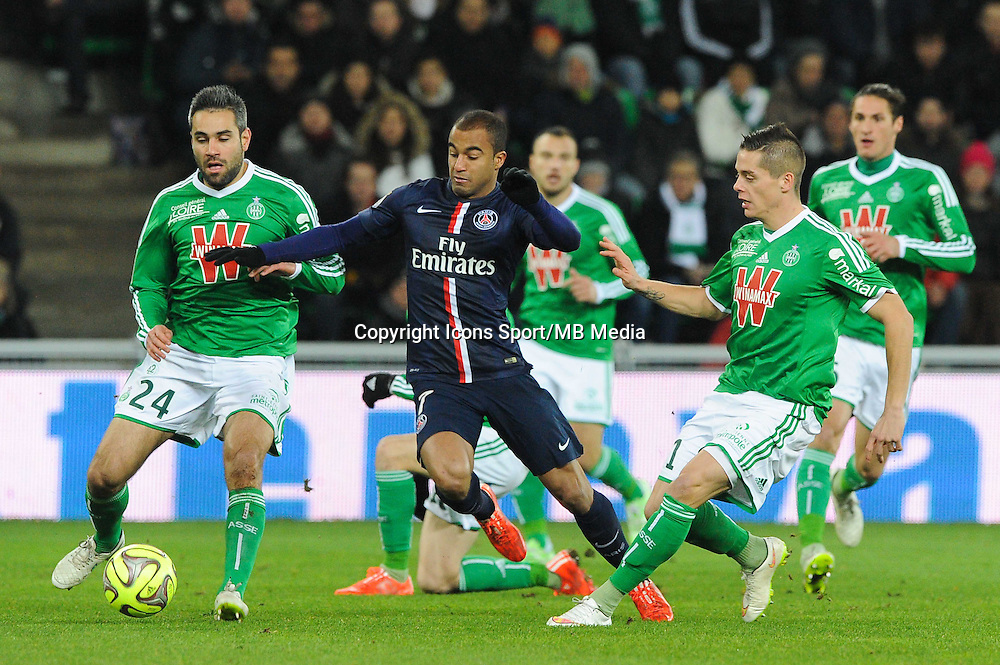 LUCAS - 25.01.2015 - Saint Etienne / PSG - 22eme journee de Ligue1<br /> Photo : Jean Paul Thomas / Icon Sport