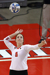 23 October 2015:  Morgan Mammosser(5) during an NCAA women's volleyball match between the Wichita State Shockers and the Illinois State Redbirds at Redbird Arena in Normal IL (Photo by Alan Look)