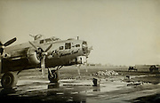 """Lewis Herron flew 33 missions as a B-17 tail gunner aboard """"Heaven Sent.""""  350th BS, of the 100th BG."""