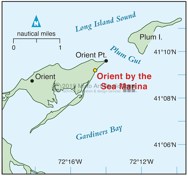 Vector map of Orient Point, New York marina
