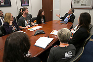 Advocates and survivors for the Brain Tumor Society meet with Sen. Al Franken during the Head to the Hill day in Washington, DC on Tuesday, May 9, 2017. (Alan Lessig/)