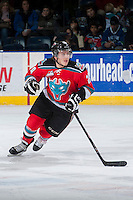 KELOWNA, CANADA - DECEMBER 7:  Tyson Baillie #24 of the Kelowna Rockets skates against the Kootenay Ice on December 7, 2013 at Prospera Place in Kelowna, British Columbia, Canada.   (Photo by Marissa Baecker/Shoot the Breeze)  ***  Local Caption  ***