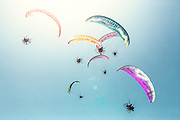Paramotors (microlight) in Dubai, UAE during the World Air Games.