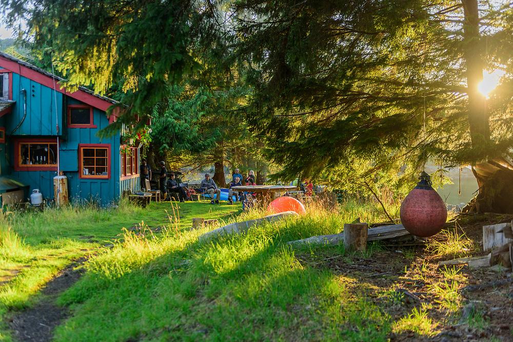North America, Canada Canadian, British Columbia, Queen Charlotte Islands, West Coast, Haida Gwaii, Gwaii Haanas National Park Reserve ,Susan's Restaurant at Rose Harbor