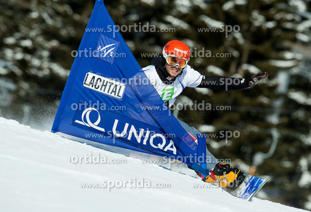 Zan Kosir of Slovenia competes during Men's Parallel Giant Slalom at FIS World Championships of Snowboard and Freestyle 2015, on January 23, 2015 at the WM Piste in Kreischberg, Austria. Photo by Vid Ponikvar / Sportida