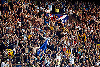 Photo: Richard Lane/Sportsbeat Images.<br />France v Scotland. UEFA European Championships Qualifying. 12/09/2007. <br />Scotland fans celebrate victory over France.