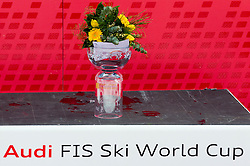 Flower ceremony after the 2nd Run of Men's Slalom - Pokal Vitranc 2012 of FIS Alpine Ski World Cup 2011/2012, on March 11, 2012 in Vitranc, Kranjska Gora, Slovenia.  (Photo By Vid Ponikvar / Sportida.com)