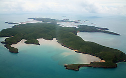 Aerial view of Irvine Island in the Buccaneer Archipelago.  Irvine Island is the site of a potential new iron ore mine.