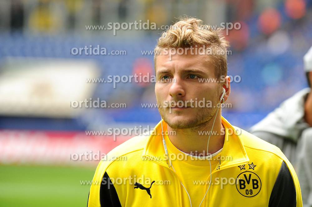 27.09.2014, Veltins Arena, Gelsenkirchen, GER, 1. FBL, Schalke 04 vs Borussia Dortmund, 6. Runde, im Bild Ciro Immobile ( Borussia Dortmund ) // during the German Bundesliga 6th round match between Schalke 04 and Borussia Dortmund at the Veltins Arena in Gelsenkirchen, Germany on 2014/09/27. EXPA Pictures &copy; 2014, PhotoCredit: EXPA/ Eibner-Pressefoto/ Thienel<br /> <br /> *****ATTENTION - OUT of GER*****
