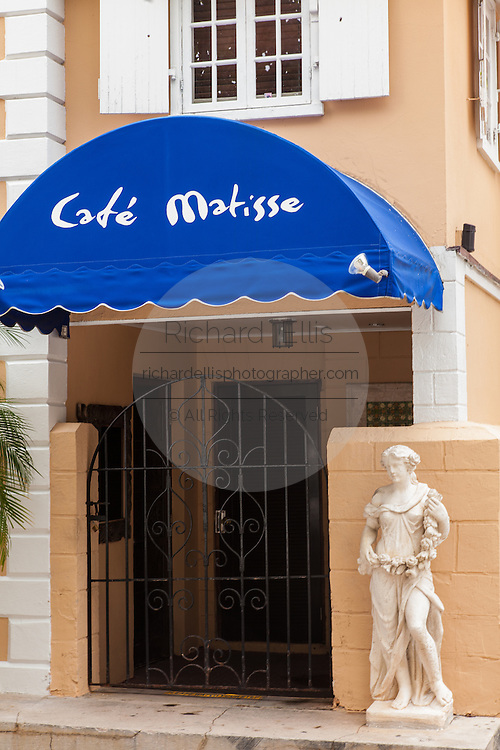 Famous Cafe Matisse in Parliament Square Nassau, Bahamas.