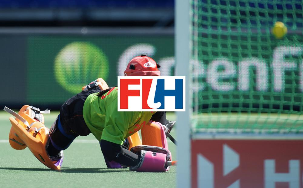 DEN HAAG - Rabobank Hockey World Cup<br /> 16 China - USA<br /> Foto: Dongxiao Li.<br /> COPYRIGHT FRANK UIJLENBROEK FFU PRESS AGENCY