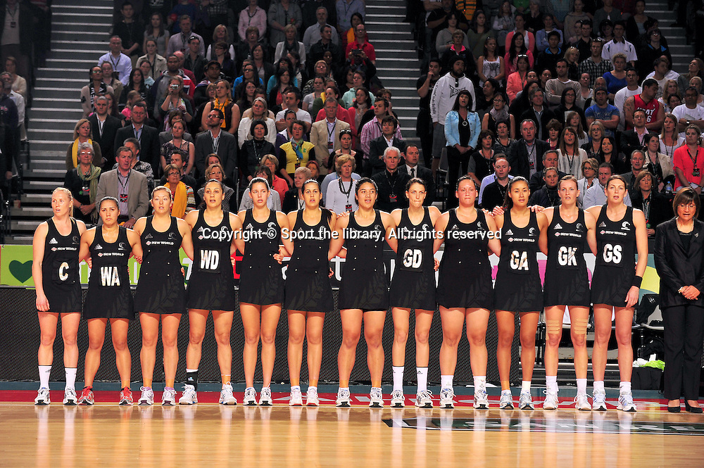 Opening - New Zealand<br /> 2011 Holden Netball Test Series<br /> Australia vs New Zealand <br />  Sunday 30 October 2011<br /> Hisense Arena/ Melbourne Australia <br /> &copy; Sport the library / Jeff Crow