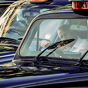 London taxi drivers, London, England (June 2005)