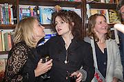 HELEN FIELDING; HELENA BONHAM-CARTER; VIRGINIA BONHAM-CARTER Allie Esiri's The Love Book launch party , Daunt Books <br /> 83 Marylebone High Street, London. 5 February 2014