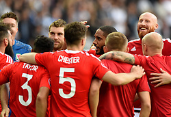 Ashley Williams of Wales leads celebrations with team mates after the game  - Mandatory by-line: Joe Meredith/JMP - 25/06/2016 - FOOTBALL - Parc des Princes - Paris, France - Wales v Northern Ireland - UEFA European Championship Round of 16