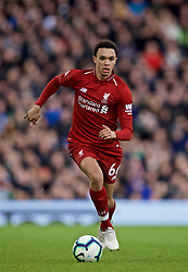 LONDON, ENGLAND - Sunday, March 17, 2019: Liverpool's Trent Alexander-Arnold during the FA Premier League match between Fulham FC and Liverpool FC at Craven Cottage. (Pic by David Rawcliffe/Propaganda)