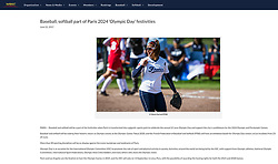 Raina Hunter, WBSC website article, June 2017.
