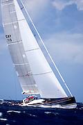 P2 sailing in The Superyacht Cup regatta, Antigua 2010, race 2.