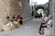 Riace, Calabria, Italia, aug. 2010. Refugees received in Riace. Riace il paese che accoglie rifugiati. Local people and refugees women.