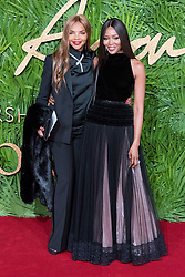 © Licensed to London News Pictures. 04/12/2017. London, UK. VALERIE MORRIS  and NAOMI CAMPBELL arrives for The Fashion Awards 2017 held at the Royal Albert Hall. Photo credit: Ray Tang/LNP