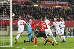 March 21, 2019 - Vienna, Austria - Krzysztof Piatek of Poland scors a goal during the UEFA European Qualifiers 2020 match between Austria and Poland at Ernst Happel Stadium in Vienna, Austria on March 21, 2019  (Credit Image: © Andrew Surma/NurPhoto via ZUMA Press)