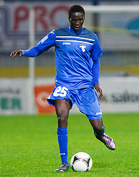 Welle Ndiaye #25 of Gorica during football match between NK Domzale vs ND Gorica in 17th Round of PrvaLiga NZS 2012/13 on November 7, 2012 in Sports park Domzale, Slovenia. Gorica defeated Domzale 1-0. (Photo By Vid Ponikvar / Sportida)