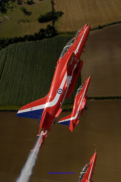 RAF Red Arrows going into vertical flight
