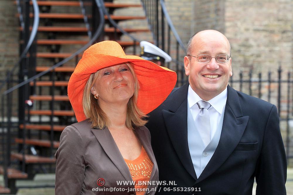 NLD/Den Haag/20110920 - Prinsjesdag 2011, Fred Teeven en partner Irma Klaassen