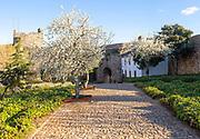 Garden inside historic castle medieval village of Marvão, Portalegre district, Alto Alentejo, Portugal, Southern Europe