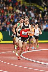 men's 500 meters, qualifying, Ben True leads pack Ben True,