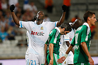 FOOTBALL - FRENCH CHAMPIONSHIP 2011/2012 - L1 - OLYMPIQUE DE MARSEILLE v AS SAINT ETIENNE - 21/08/2011 - PHOTO PHILIPPE LAURENSON / DPPI - DESPAIR SOULEYMANE DIAWARA (OM)