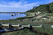 Charming beach shack along Oyster River, Chatham, Cape Cod, Massachusetts, USA.