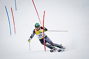 Bode Miller of the United States completes during the slalom portion of the Men's Super Combined on Birds of Prey course during the Audi FIS Birds of Prey World Cup in Beaver Creek, Colo., Friday, Dec. 4, 2009.  Miller did not finish the slalom due to a crash.