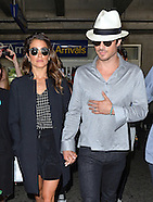 Niki Reed & Ian Somerhalder Arrive At Nice Airport