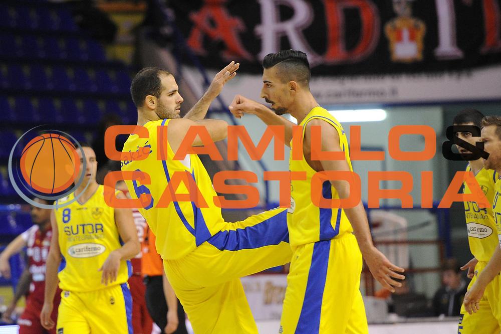 DESCRIZIONE : Porto San Giorgio Lega A 2013-14 Sutor Montegranaro Cimberio Varese<br /> GIOCATORE : Valerio Mazzola Zeliko Sakic<br /> CATEGORIA : esultanza<br /> SQUADRA : Sutor Montegranaro<br /> EVENTO : Campionato Lega A 2013-2014<br /> GARA : Sutor Montegranaro Cimberio Varese<br /> DATA : 23/11/2013<br /> SPORT : Pallacanestro <br /> AUTORE : Agenzia Ciamillo-Castoria/C.De Massis<br /> Galleria : Lega Basket A 2013-2014  <br /> Fotonotizia : Porto San Giorgio Lega A 2013-14 Sutor Montegranaro Cimberio Varese<br /> Predefinita :