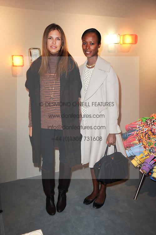 Private View of the Pavilion of Art & Design London 2010 held in Berkeley Square, London on 11th October 2010.<br /> Picture Shows:- DASHA ZHUKOVA and SHALA MONROQUE.