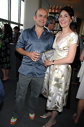 MARC QUINN and the MARCHIONESS OF NORMANBY at a dinner hosted by Vogue in honour of Antony Gormley held at the new Skylon restaurant at the refurbished Royal Festival Hall, South Bank, London on 22nd May 2007.<br /><br />NON EXCLUSIVE - WORLD RIGHTS