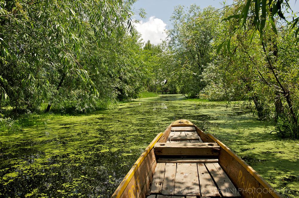 Dal Lake backwaters. Srinagar<br /> Kashmir. India