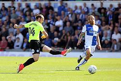 Jack Marriott of Peterborough United shoots at goal - Mandatory by-line: Joe Dent/JMP - 12/08/2017 - FOOTBALL - Memorial Stadium - Bristol, England - Bristol Rovers v Peterborough United - Sky Bet League One