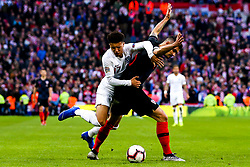 Jadon Sancho of England is fouled by Dejan Lovren of Croatia - Mandatory by-line: Robbie Stephenson/JMP - 18/11/2018 - FOOTBALL - Wembley Stadium - London, United Kingdom - England v Croatia - UEFA Nations League