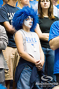 3 November 2009: Young Duke fan puts on her colors..The Duke Blue Devils defeat the Findlay Oilers 84 -48 in an exhibition game. Kyle Singler had 20 points as Duke wraps up it's pre-season.. Mandatory Credit:Mark Abbott / Southcreek Global